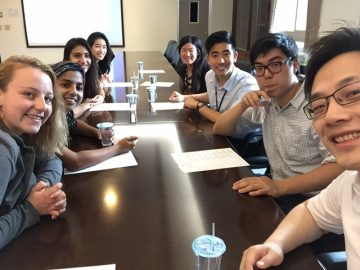 Peter Wang with students from Taiwan and UCLA.