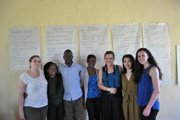 Our GHI team (Alanna Roberts, Kate McWilliams, Lauren Kan & Kelly Leslie) plus some of our amazing partners from Kenya PCT (Partners in Community Transformation) at our first mental health workshop for Community Health Workers, where we taught them about psychosis, anxiety, depression, and substance abuse.