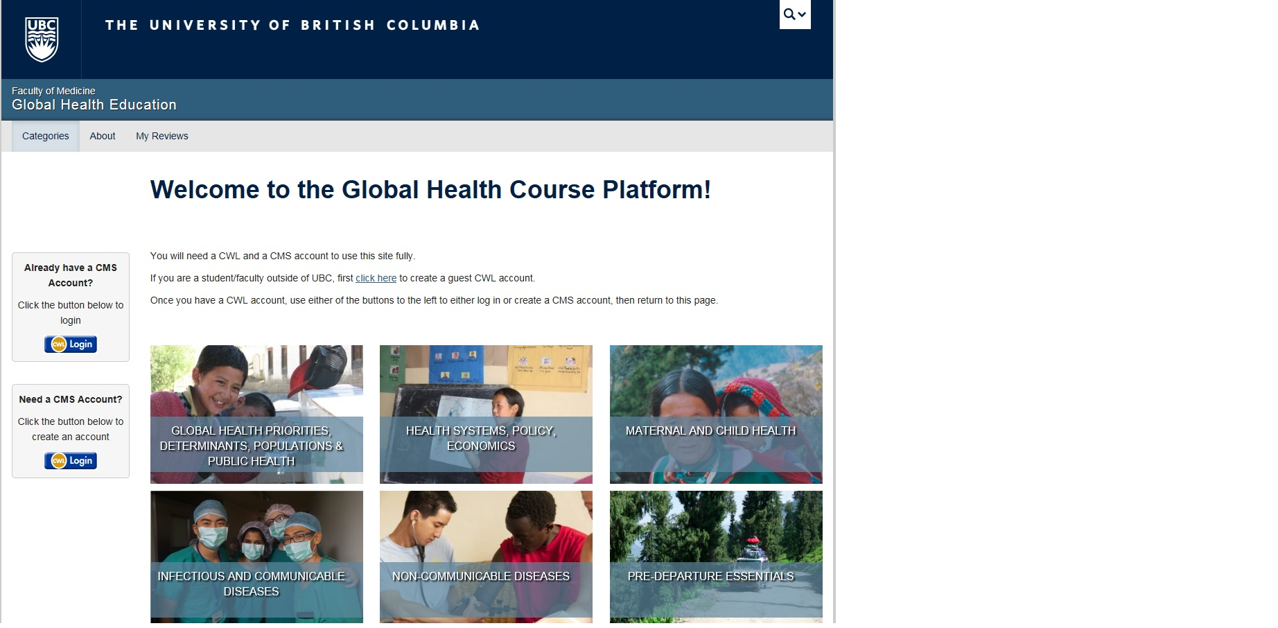 The online Global Health Course Platform has been launched!