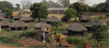 Houses located near the Gulu Regional Referral Hospital in Northern Uganda.  The region is now peaceful, but is still reeling from over 20 years of civil war and conflict with the Lord's Resistance Army – a rebel group notorious for committing atrocities and using child soldiers.